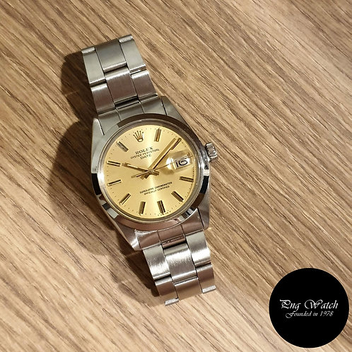 Rolex Champagne 34mm Oyster Perpetual REF: 1500 (2)