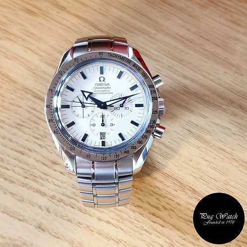 Omega White Speedmaster Broad Arrow Timepiece (2)