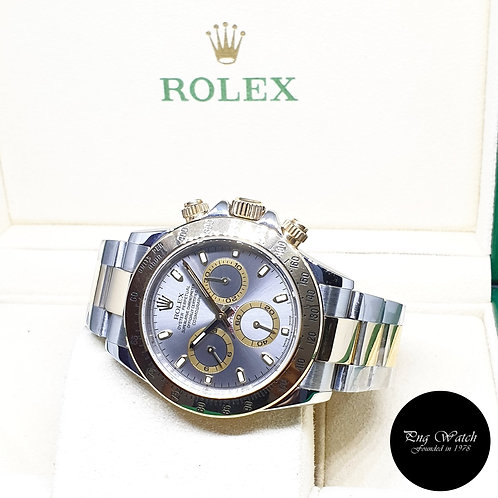 Rolex Oyster Perpetual 18K Half Gold Grey Daytona REF: 116523 (D Series)