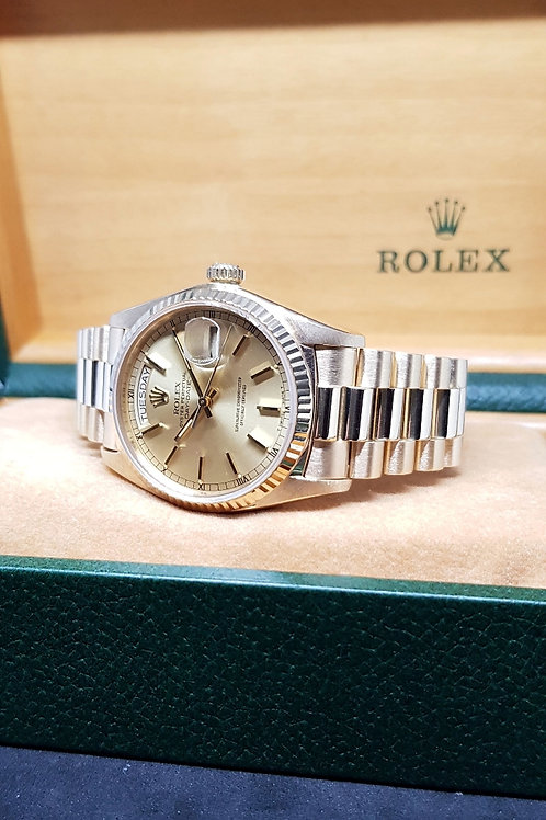 Rolex 18K Yellow Gold Champagne Gold Dial Day-Date REF: 18038