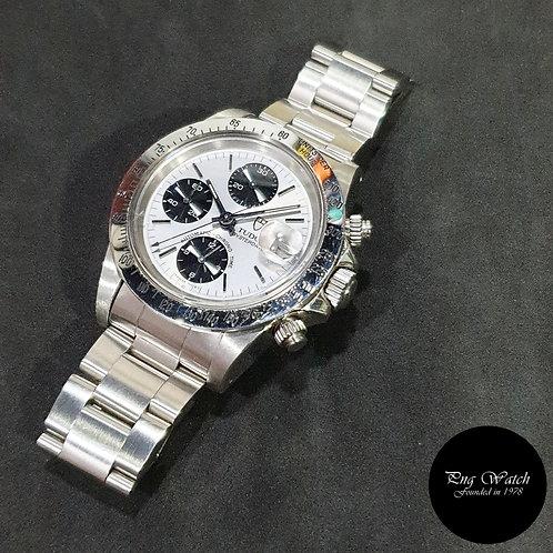 """Tudor Silver Oysterdate """"Big Block"""" Chronograph (By Rolex) REF: 79180 (2)"""