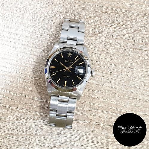 Rolex 34mm Gloss Black Oysterdate Precision REF: 6694 (1984)(2)