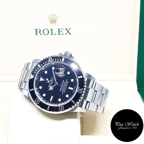 (NOT AVAILABLE) Rolex OP Date Black Submariner REF: 16610 (P Series)