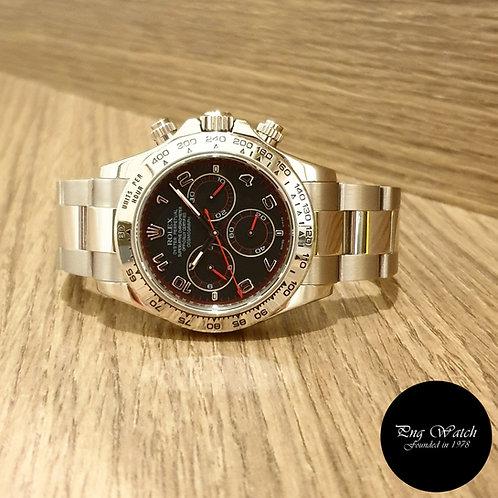"Rolex OP 18K White Gold ""Spyder"" Black Cosmograph Daytona REF: 116509 (2)"