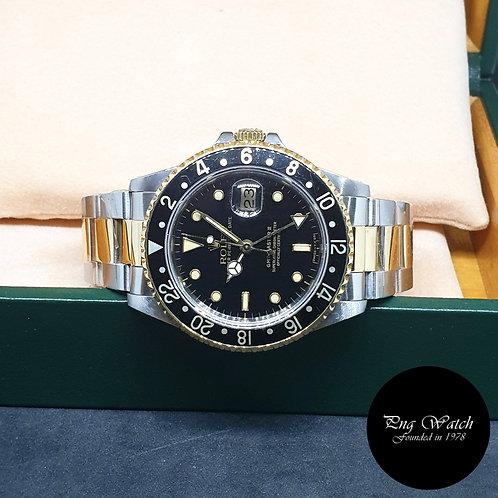 Rolex Oyster Perpetual 18K Half Gold Tritium GMT Master 2 REF: 16713