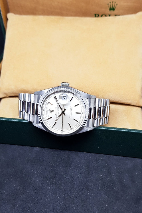 Rolex Oyster Perpetual 18K White Gold Day-Date REF: 18239