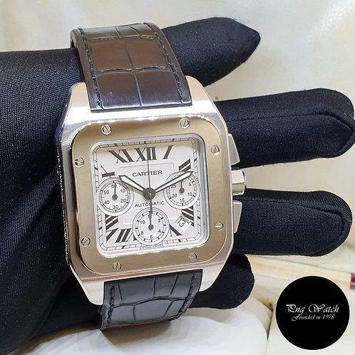 Cartier Santos XL Chronograph REF: W20090X8 (2)