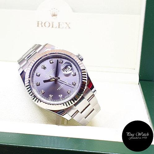 Rolex Oyster Perpetual Rhodium Diamonds 41mm Datejust II REF: 116334 (2017)