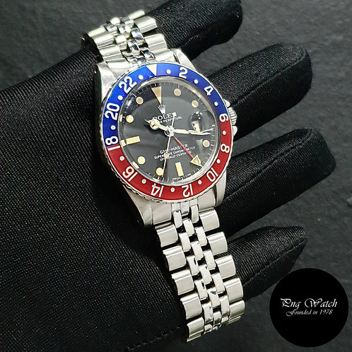 """Rolex Oyster Perpetual Steel """"PEPSI"""" Black GMT Master REF: 1675 (1.81)(2)"""