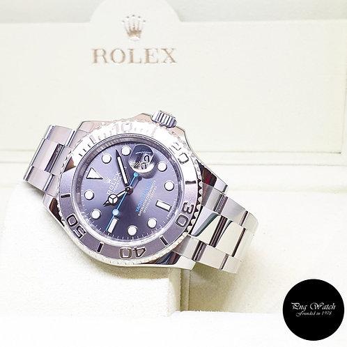 Rolex Oyster Perpetual 40mm Dark Rhodium Yachtmaster REF: 116622 (2017)