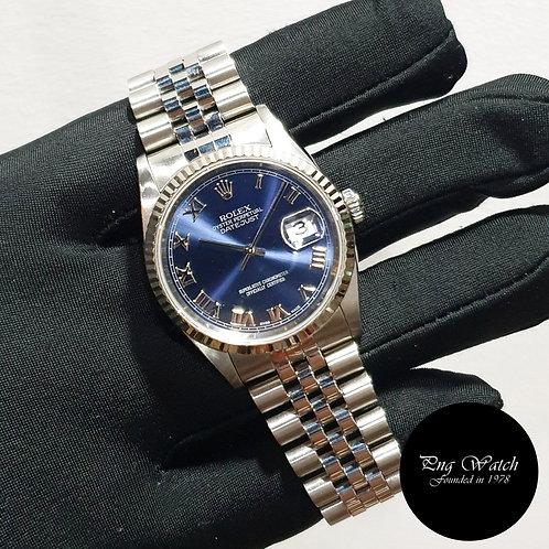 Rolex Oyster Perpetual Blue Roman Datejust REF: 16234 (2)