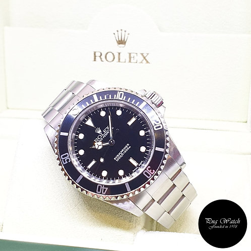 Rolex Oyster Perpetual 2 Liner Steel No Date Black Submariner REF: 14060M