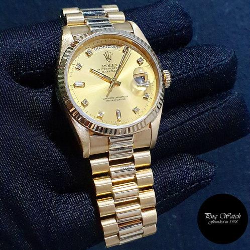 Rolex 18K Yellow Gold Champagne Vignette Diamonds Day-Date REF: 18238 (2)