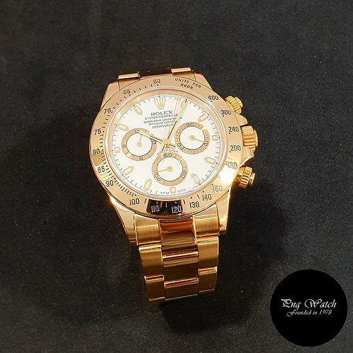 Rolex OP 18K Yellow Gold White Indexes Cosmograph Daytona  REF: 116528 (2)