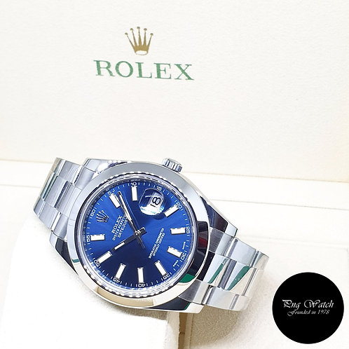 Rolex Oyster Perpetual 41mm Blue Indexes Datejust REF: 116300 (2017)