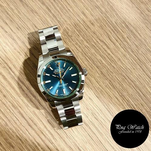 Rolex Oyster Perpetual Blue Milgauss REF: 116400GV (2)