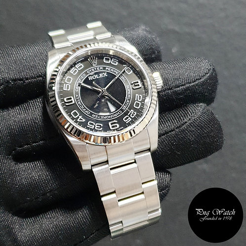 Rolex 36mm Black Concentric Oyster Perpetual REF: 116034 (07)(2)