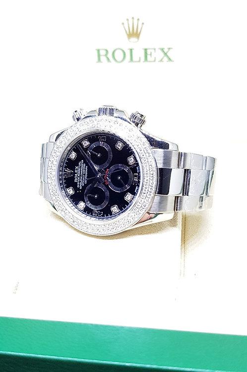 Rolex 8PT Diamonds 18K WG Cosmograph Daytona REF: 116509