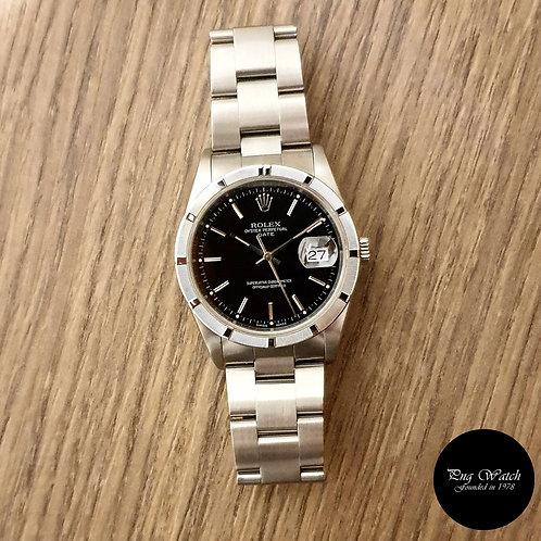 Rolex Oyster Perpetual 34mm Black Date REF: 15210 (2)