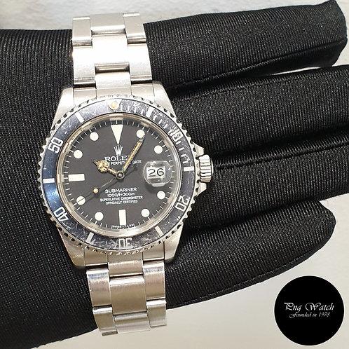 Rolex Oyster Perpetual Tritium Matte Black Submariner Date REF: 16800 (2)