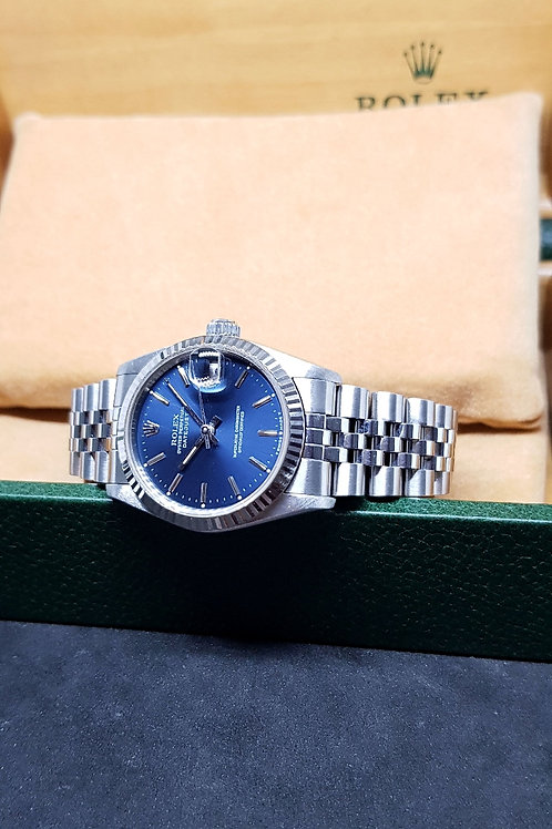 Rolex Oyster Perpetual Blue Baton Boy Datejust REF: 68274