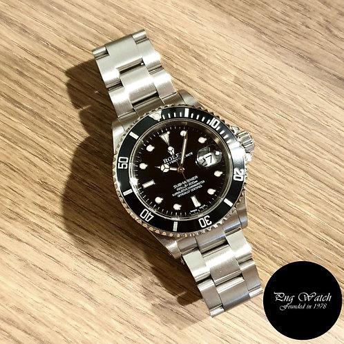 Rolex Oyster Perpetual Date Black Submariner (Y Series) REF: 16610 (2)