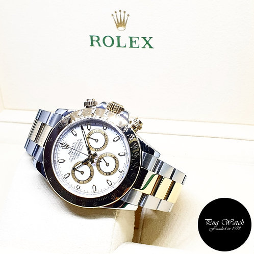Rolex OP 18K Half Yellow Gold White Indexes Daytona REF: 116523 (M)