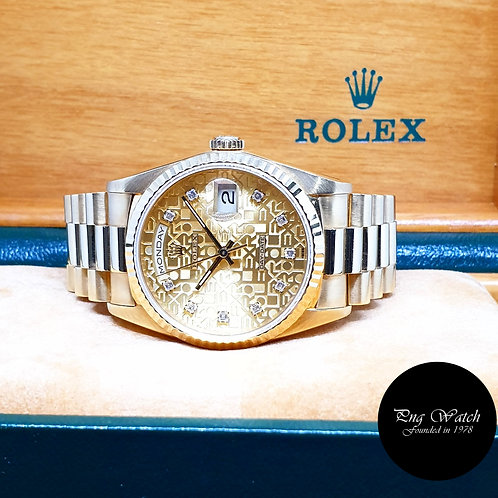 Rolex OP 18K Full Yellow Gold Computer Diamonds Day-Date REF: 18238