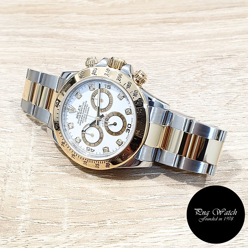 Rolex OP 18K Half Gold White Diamonds Cosmograph Daytona REF: 116523 (2)