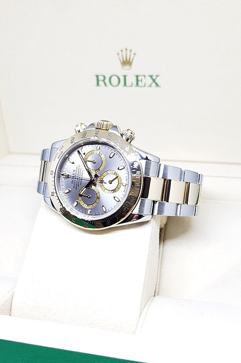 Rolex Oyster Perpetual 18K Half Gold Grey Slate Daytona REF: 116523
