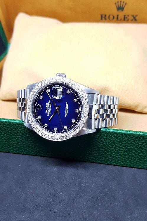 Rolex 10PT Diamonds Blue Ombre Datejust REF: 16234