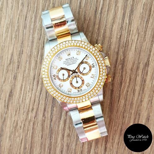 Rolex Cosmograph Daytona Zenith Movement in 8PT Diamonds REF: 16523 (2)