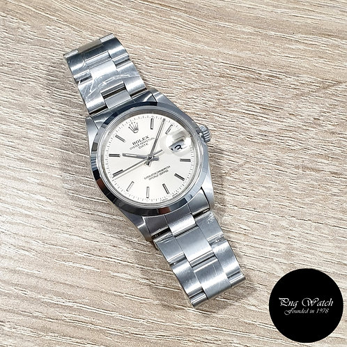 Rolex 34mm Silver Indexes Oyster Perpetual Date REF: 15200 (T Series)(2)