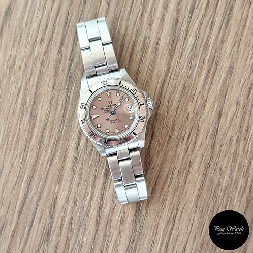 Tudor Princess Date Salmon Pink Lady-Sub REF: 96090 (Tudor by Rolex)(2)