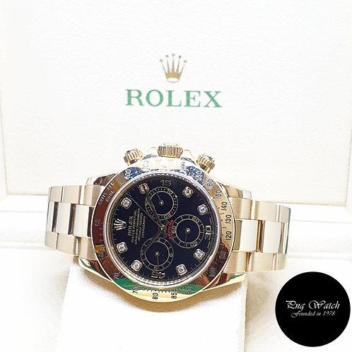 Rolex Oyster Perpetual 18K Yellow Gold Black Diamonds Daytona REF: 116528 (2002)