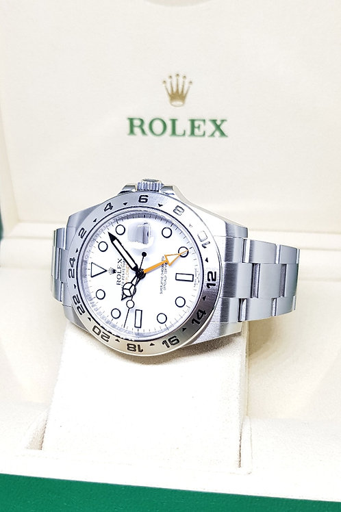 Rolex Oyster Perpetual 42mm White Explorer 2 REF: 216570
