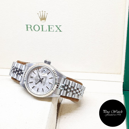 Rolex Oyster Perpetual Silver Linen Ladies Datejust REF: 79174 (2000)