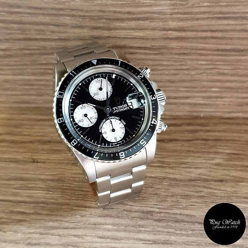"Vintage Tudor Gloss Black ""Big Block"" Chronograph REF: 79170 (By Rolex)(2)"