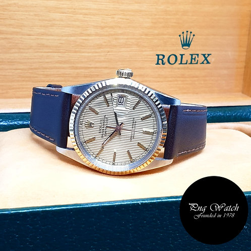 Rolex Oyster Perpetual 14K Half Gold Champagne Tapestry Datejust REF: 16013