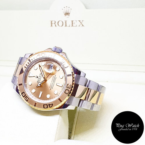 Rolex Oyster Perpetual 18K Half Gold Champagne 40mm Yachtmaster REF: 16623 (V)