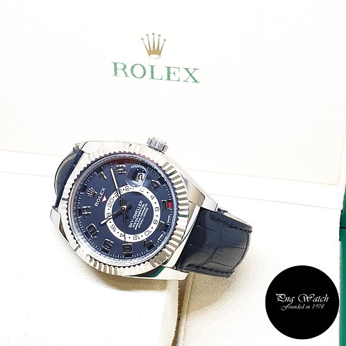 Rolex Oyster Perpetual 18K White Gold Black Dial Sky Dweller REF: 326139 (2016)