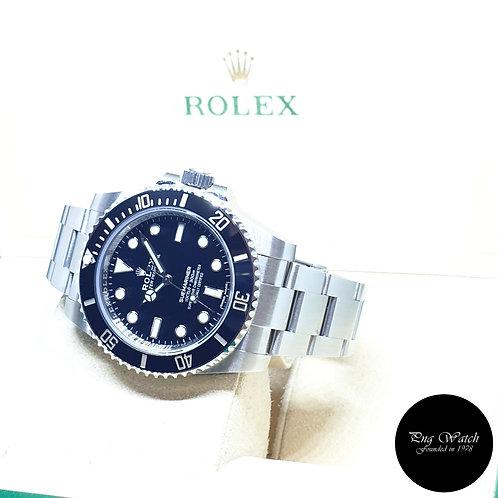 Rolex Oyster Perpetual Ceramic No Date Black Submariner REF: 114060 (2019)