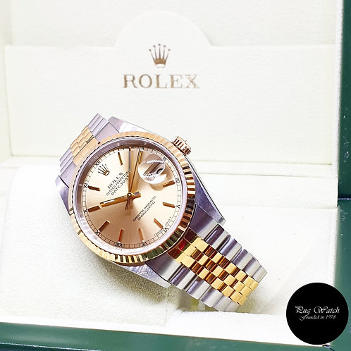 Rolex Oyster Perpetual Champagne Indexes Datejust REF: 16233 (W Series)