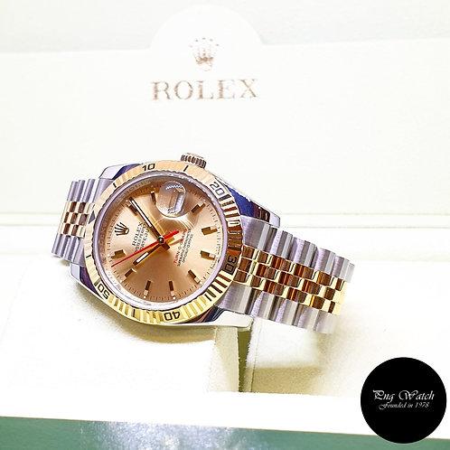 "Rolex OP 18K Half Gold Champagne ""Turn-O-Graph"" Datejust REF: 116263"
