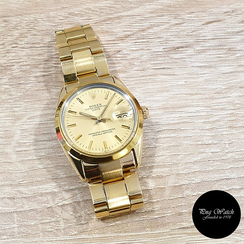 Rolex Gold Shell Oyster Champagne Indexes Date REF: 15505 (2)