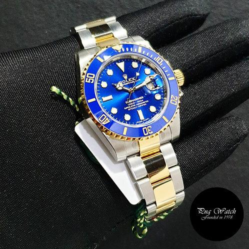Rolex Ceramic 18K Half Yellow Gold Sunburst Blue Submariner REF: 116613LB (2)