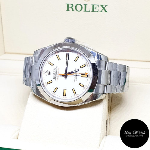 Rolex Oyster Perpetual White Milgauss REF: 116400