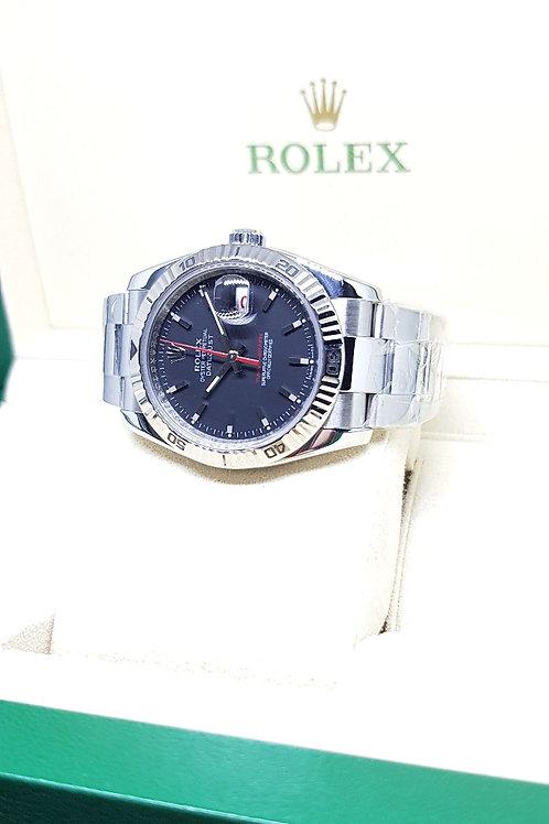 "Rolex Oyster Perpetual Matte Black ""Turn-O-Graph"" Datejust REF: 116264"