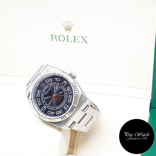 Rolex 36mm Black Concentric Oyster Perpetual REF: 116034 (2007)