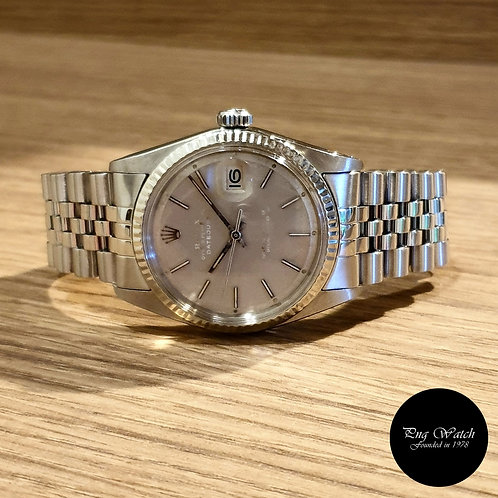 """Rolex Oyster Perpetual """"Ghost"""" Grey Datejust REF: 1601 (2)"""